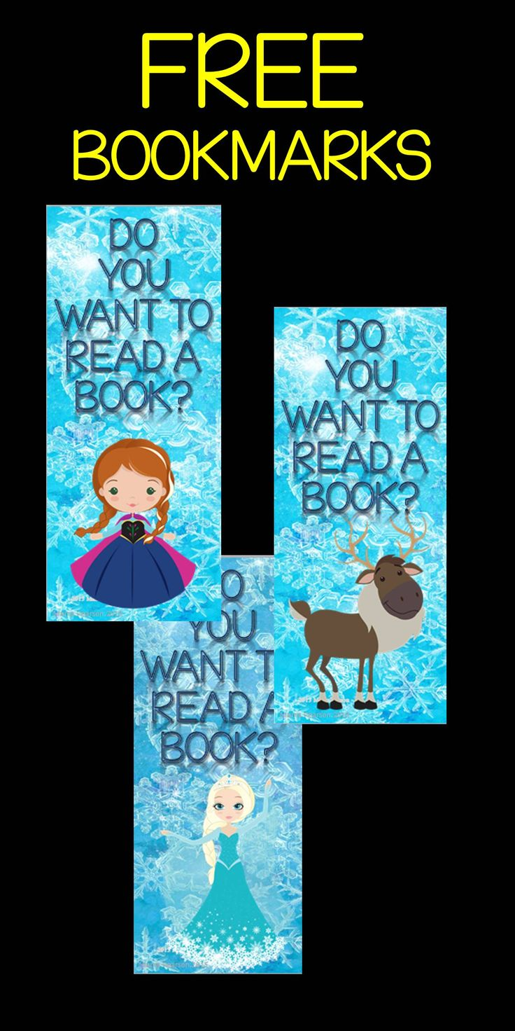 Inspired by the movie Frozen, you receive 5 different bookmarks absolutely FREE! I have included bookmarks with 5 different characters from the movie Frozen. Your students are guaranteed to love them!