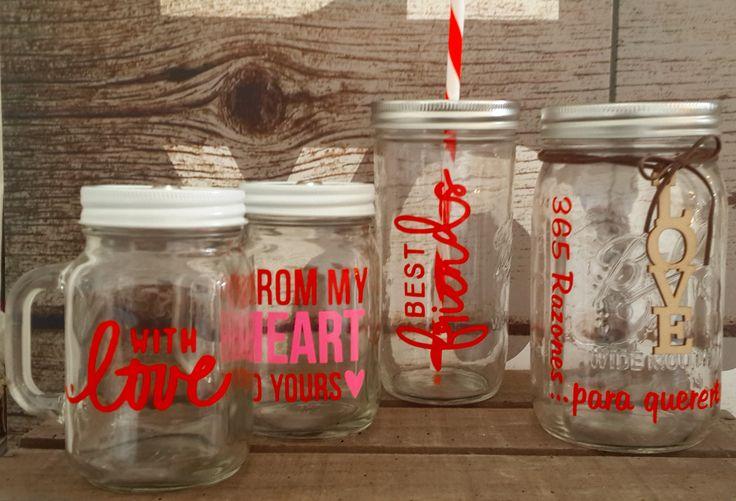 Valentine's Day! Mason Jars personalizados.