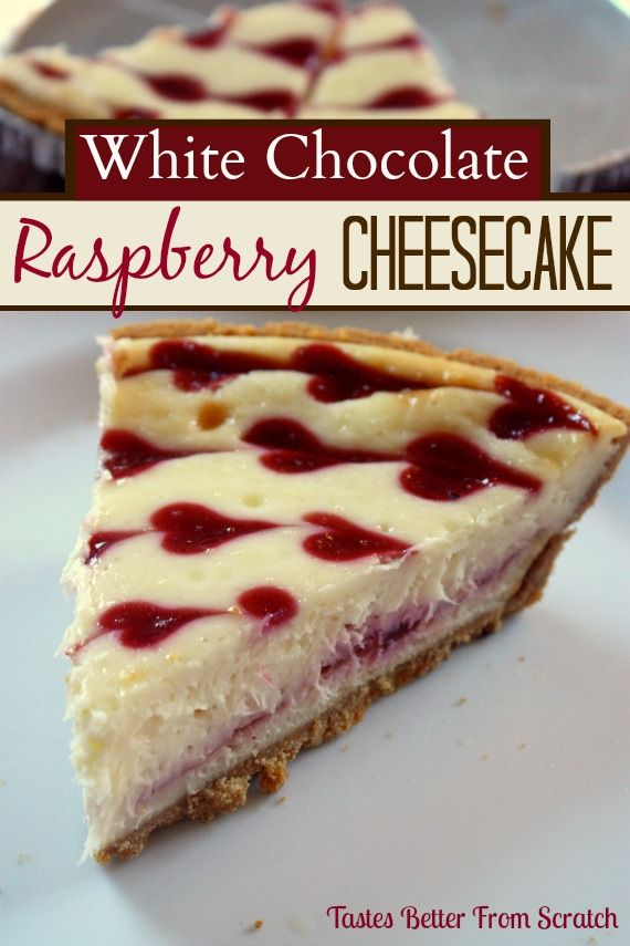 White Chocolate Raspberry Cheesecake on MyRecipeMagic.com   (Delicious and FOOLproof recipe, from Tastes Better From Scratch!)
