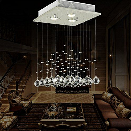 Lightess modern chandelier lights rain drop crystal light https www