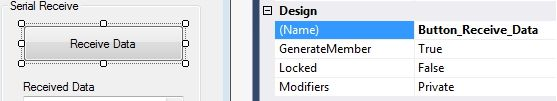 changing design name of controls in Visual studio Community edition using properties window.Visit http://www.xanthium.in/building-opensource-gui-based-serial-port-communication-program-dot-net-framework-and-arduino to know more