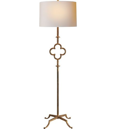 For living room - Visual Comfort Suzanne Kasler Quatrefoil 2 Light Decorative Floor Lamp in Gilded Iron with Wax SK1500GI-L $629