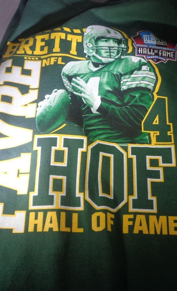 premium selection 26213 ad6fd Brett Favre/Green Bay Packers HOF mens Medium green T-Shirt ...