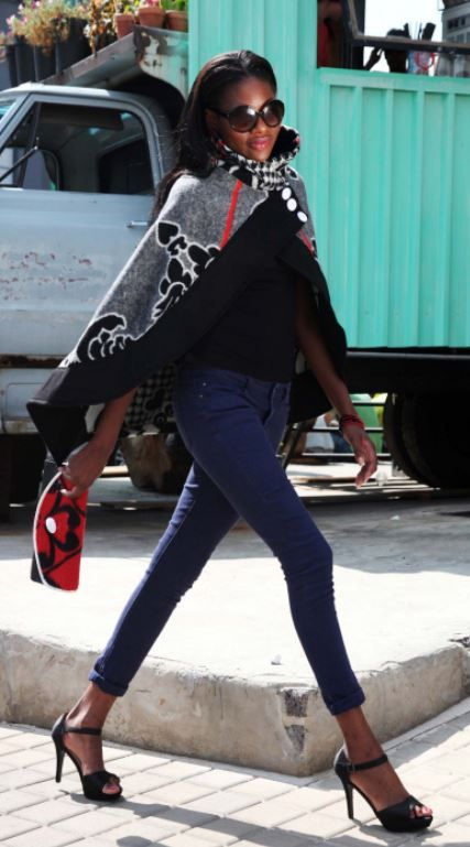 Feeling cold today. So I thought about Thabo's beautiful Basotho Blanket Cape