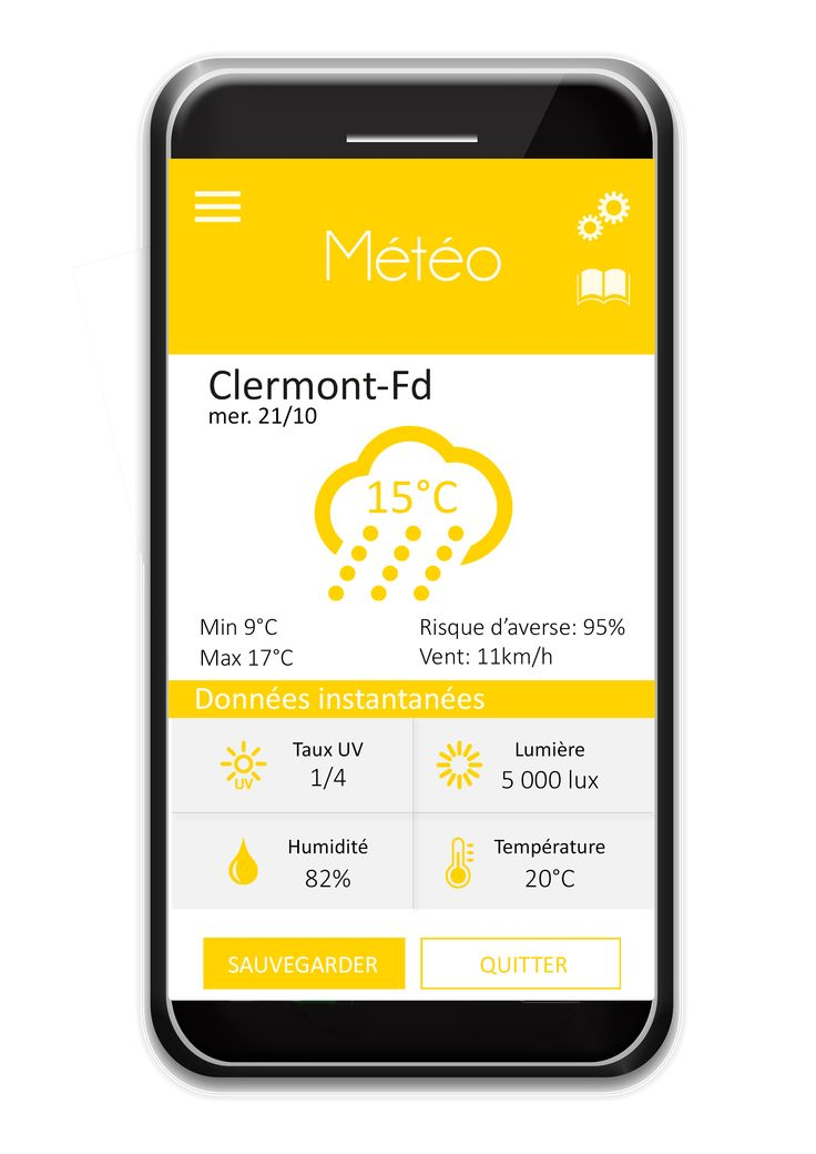 Weather  #ctband #app #wearable #hightech