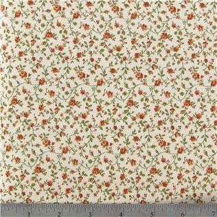 Spice Floral on Cream Fabric | Shop Hobby Lobby