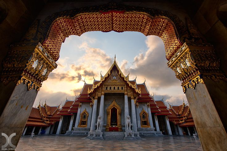The Marble Temple by Daniel Cheong.  Wat Benchamabophit in Bangkok, Thailand.