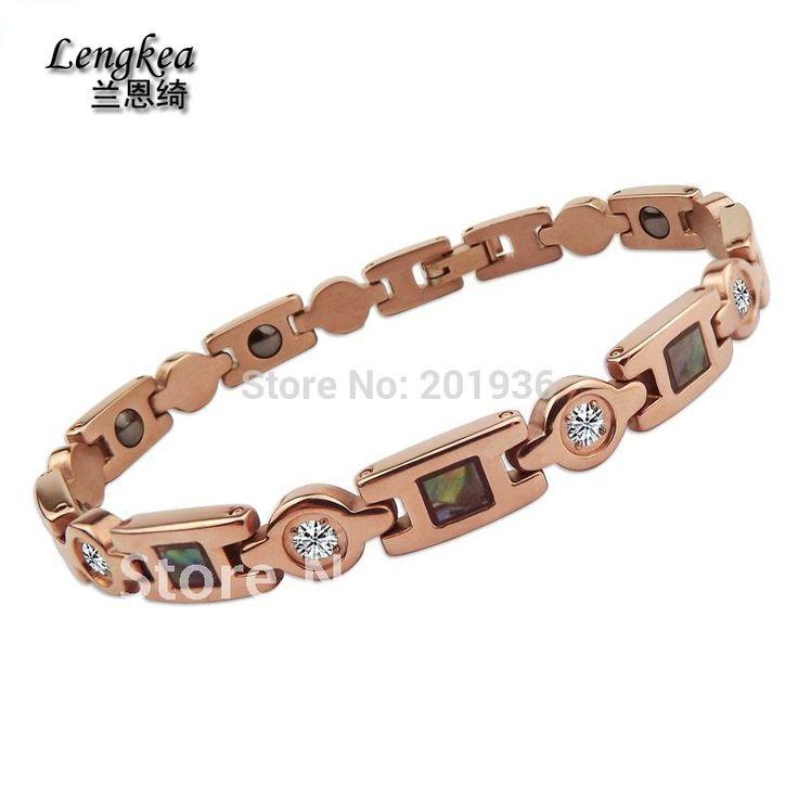 Free shipping Quality goods Pure Titanium germanium health care bracelet woman anti-fatigue ancient bracelet healthy Gift