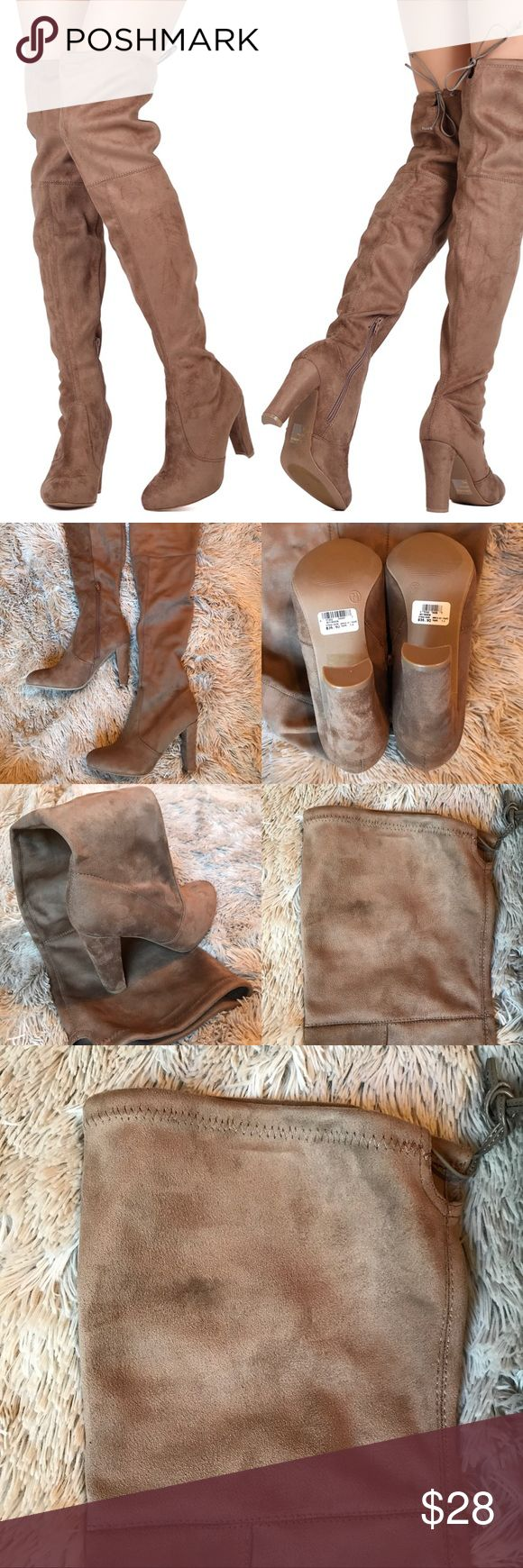 Windsor Taupe Over The Knee Boots size 7.5 Taupe suede Over The Knee boots with zip on inner side.  Size 7.5. Comes with original box and packaging.  Brand new, unworn & in perfect condition. What you see is what you see :) Windsor Shoes Over the Knee Boots