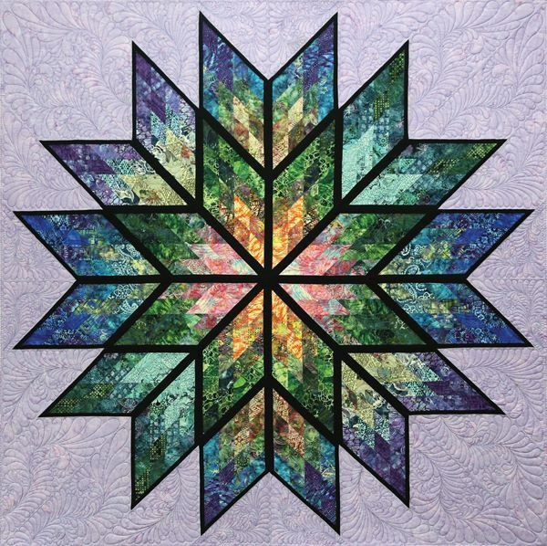 Prismatic Star Quilt Kit - Lilac Color Way | Judy Niemeyer ...