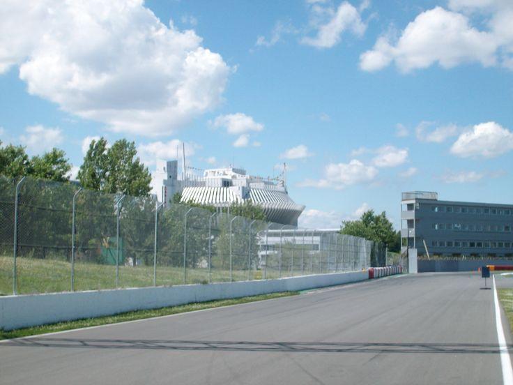 Circuit Gilles-Villeneuve,sur l'ile Notre-Dame,Montréal.