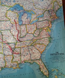 Barbara Johnson from Wisconsin: Mappy Christmas! You could use this idea to show family migration paths.