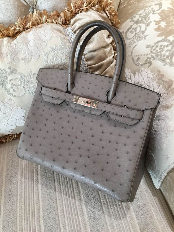 Sacs de Cr��ateur - Hermes Birkin 30CM Mousse Ostrich Leather ...