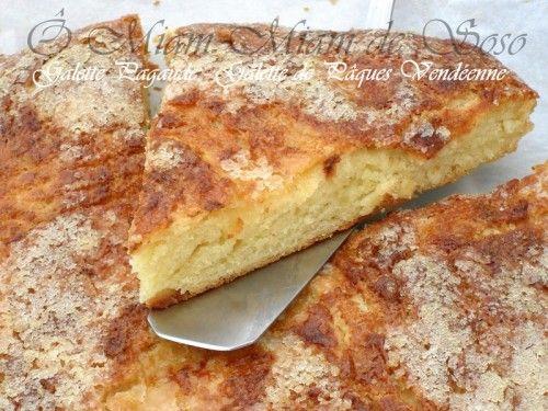 """La galette Pagaude est une viennoiserie Vendéenne confectionnée depuis le moyen âge à l'occasion de la fête de Pâques, la tradition voulait que chaque famille fabrique sa brioche à la mie serrée riche en beurre et en sucre. """"Quand Pâques arrivait, c'était..."""