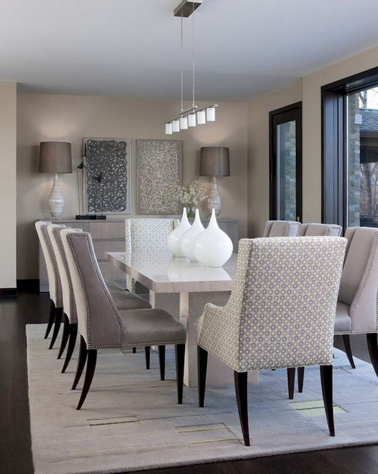 Lovely Modern Dining Room Decorating, Classy Dining Room Chairs