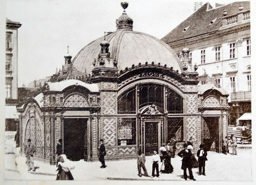 This elegant edifice was the original entrance to the Millennium Underground (nowadays yellow metro line 1), built 1896. Deák Square - Budapest, Hungary.