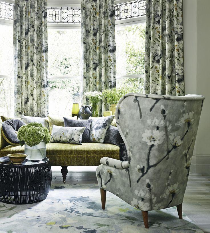 Autumnal Tones, Jewel Tones   Eleni Fabric by Sanderson   Jane Clayton
