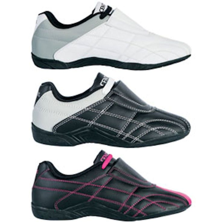 Century Lightfoot Martial Arts Shoes. Century Lightfoot Martial Arts Shoes Martial arts karate and taekwondo shoes         Specially designed to be lightweight and pliable.        Outsoles are optimized for ideal grip on floor.        Rubber sole features pivot point for enhanced footwork.        Breathable design helps keep feet cool and comfortable.        Constructed of long lasting synthetic leather for durability.            Colors: Black, Black/Pink, White        Sizes:...