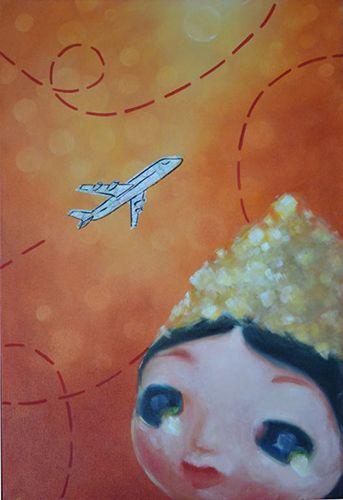 jet plane. by Janet Hulme