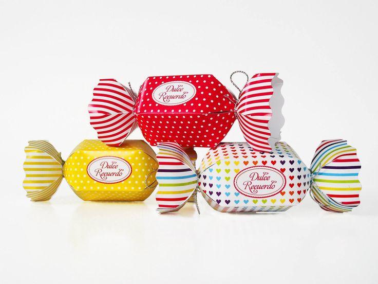 Cajitas para recuerdos forma de caramelos - www.lobly.cl -
