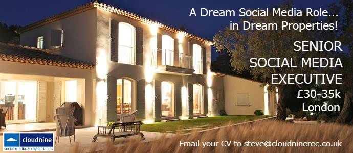 We're looking for a B2C Social Media specialist to work for a luxury property business, in-house. Fab job. £30-35k