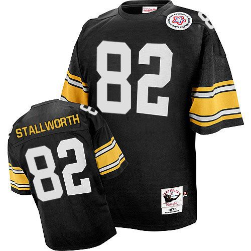 0c9ed15b545 ... Gold John Stallworth Mens Authentic Black Jersey Mitchell and Ness NFL  Pittsburgh Steelers Home 82 Pittsburgh Steelers John Stallworth 82 Nike  Elite ...