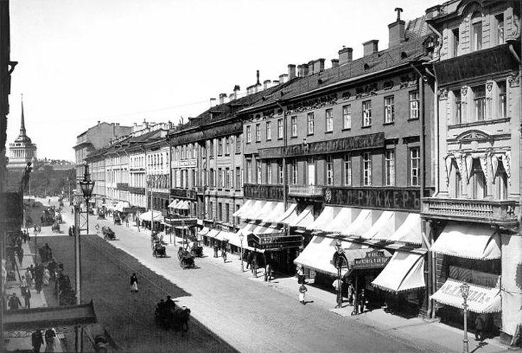 Nevsky Prospect, St. Petersburg, by Karl Bulla, early 1900;  Невский проспект, Санкт-Петербург, фото Карл Булла, начало 1900-х