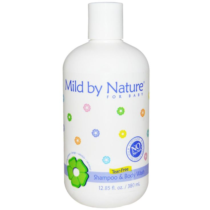 Mild By Nature Tear-Free Shampoo & Body Wash for babies.  It contains the beneficial oils of Evening Primrose, Borage Seed and Flax Seed and is perfect for your baby's delicate hair and skin