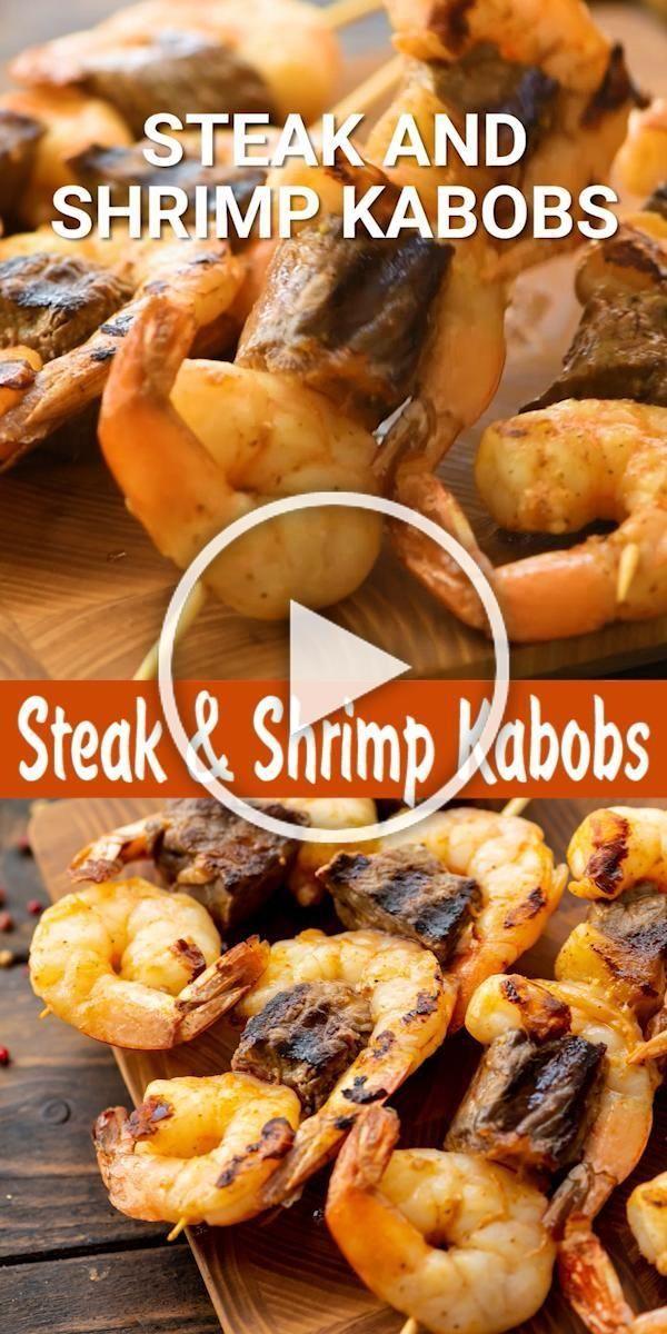 Steak And Shrimp Kabobs Are An Easy Dinner And A Fun Twist On Surf And Turf On The Grill These Easy Skew In 2020 Steak Und Garnelen Rezepte Mit Garnelen Kebab Rezepte