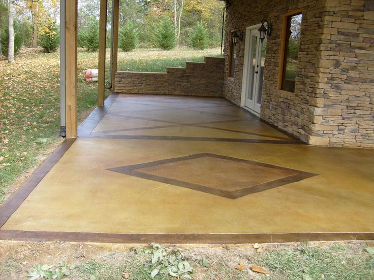 Painted Concrete Patio Paint Staining Reviews. 26 Best Patio Images On  Ideas Backyard