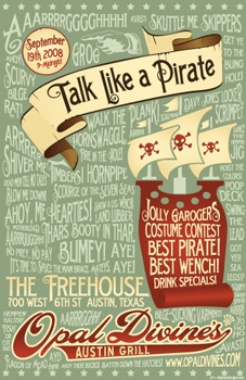 pirate phrases and cool poster