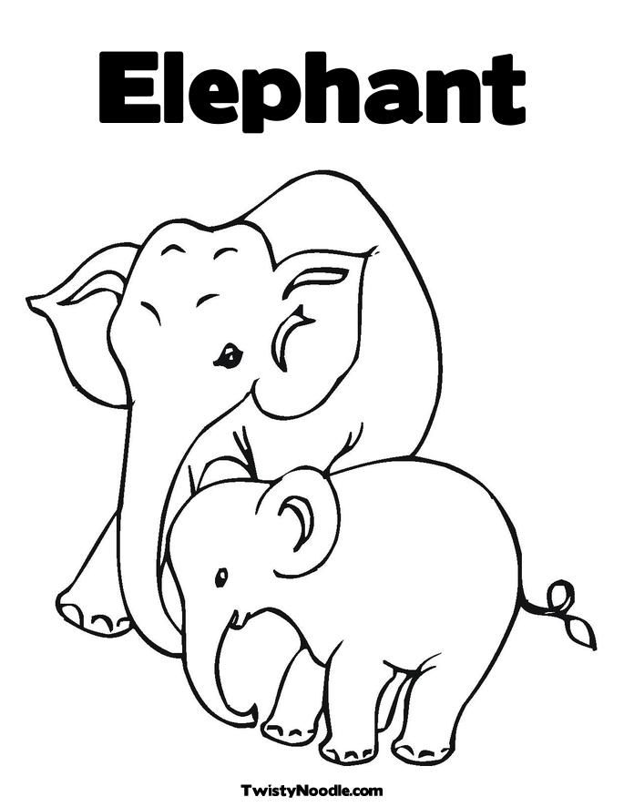 Baby Elephant Colouring Pages Page 3