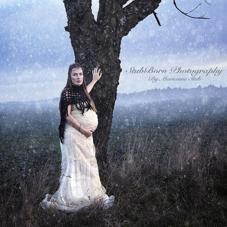 Themed Photograpphy by Danish Photographer Marianne Stub. Pregnant Celtic Druid.