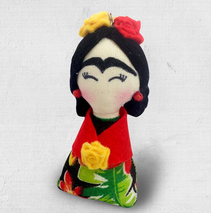 Chaveiro mini Frida Kahlo. Você pode levar para sua casa um pedacinho do méxico e do Guacamole. Chaveiro. Frida. Frida Kahlo. Souvenir. Mexico. Guacamole