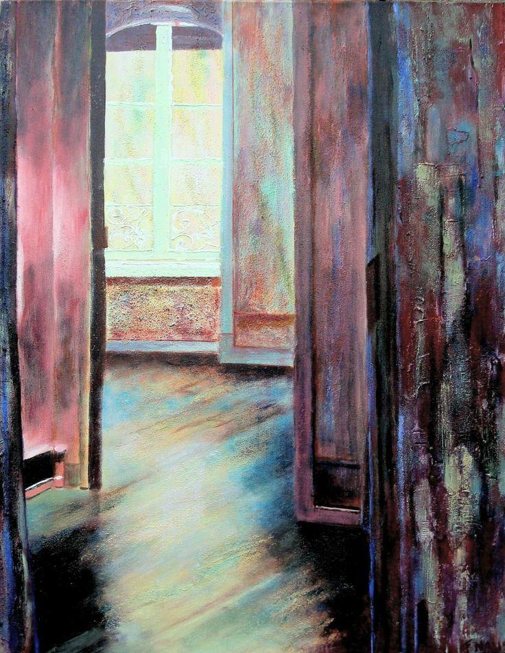 Rimbaud Dit schilderij is 'n inkijkje door de kamers van het woonhuis van de bekende Franse dichter Arthur Rimbaud.  Francien Naus-van der Steen