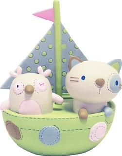 Owl & Pussycat Pea Green Boat Money Box