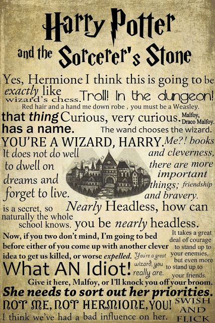 Harry Potter And The Sorcerers Stone Quote Poster