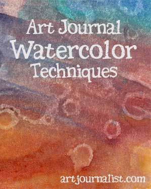 Using watercolors in your art journal can be a lot of fun! Here are some techniques you can try for some cool effects with watercolor.