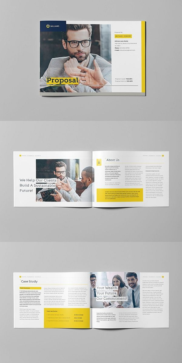 The Proposal Landscape Brochure Design Layout Booklet Layout Page Layout Design
