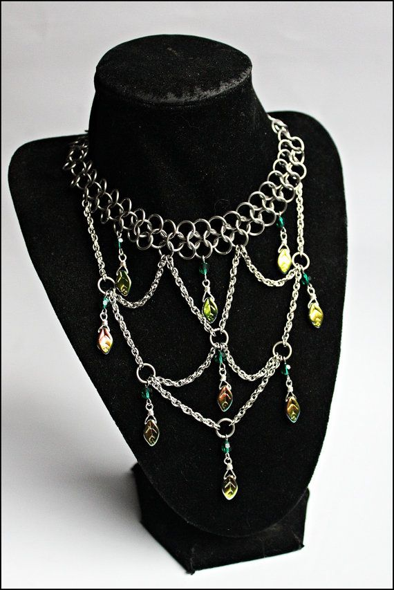 Statement Green Chainmaille Choker