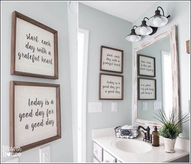 30 Diy Bathroom Wall Decor Ideas Viralinspirations Pictures