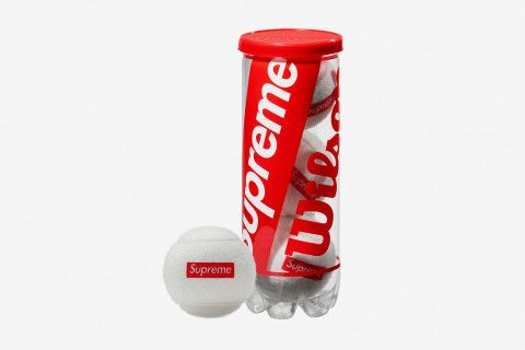 For its latest release, Supreme continues to flip the script on what a skate store can apply its branding to by releasing a set of tennis balls by Wilson.
