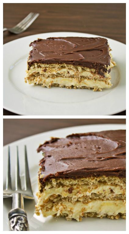 Chocolate Eclair Cake is a no-bake, magical combination of graham crackers, vanilla pudding, whipped topping, and chocolate frosting. No leftovers, either. | Culinary Hill