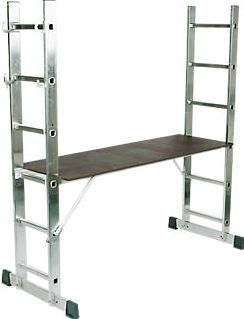 Lyte 4-Way Combination Platform Ladder Aluminium Large, versatile 4-way combination platform ladder. Can be used as stepladder, extension ladder or working platform. Stabiliser and platform included. http://www.comparestoreprices.co.uk/january-2017-9/lyte-4-way-combination-platform-ladder-aluminium.asp