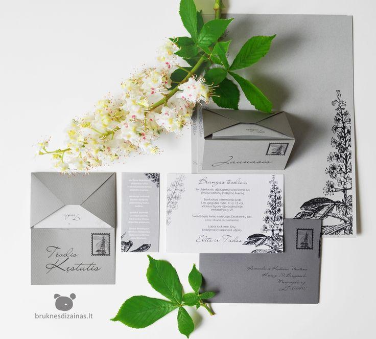 Wedding Invitation designed by www.bruknesdizainas.lt www.facebook.com/bruknesdizainas