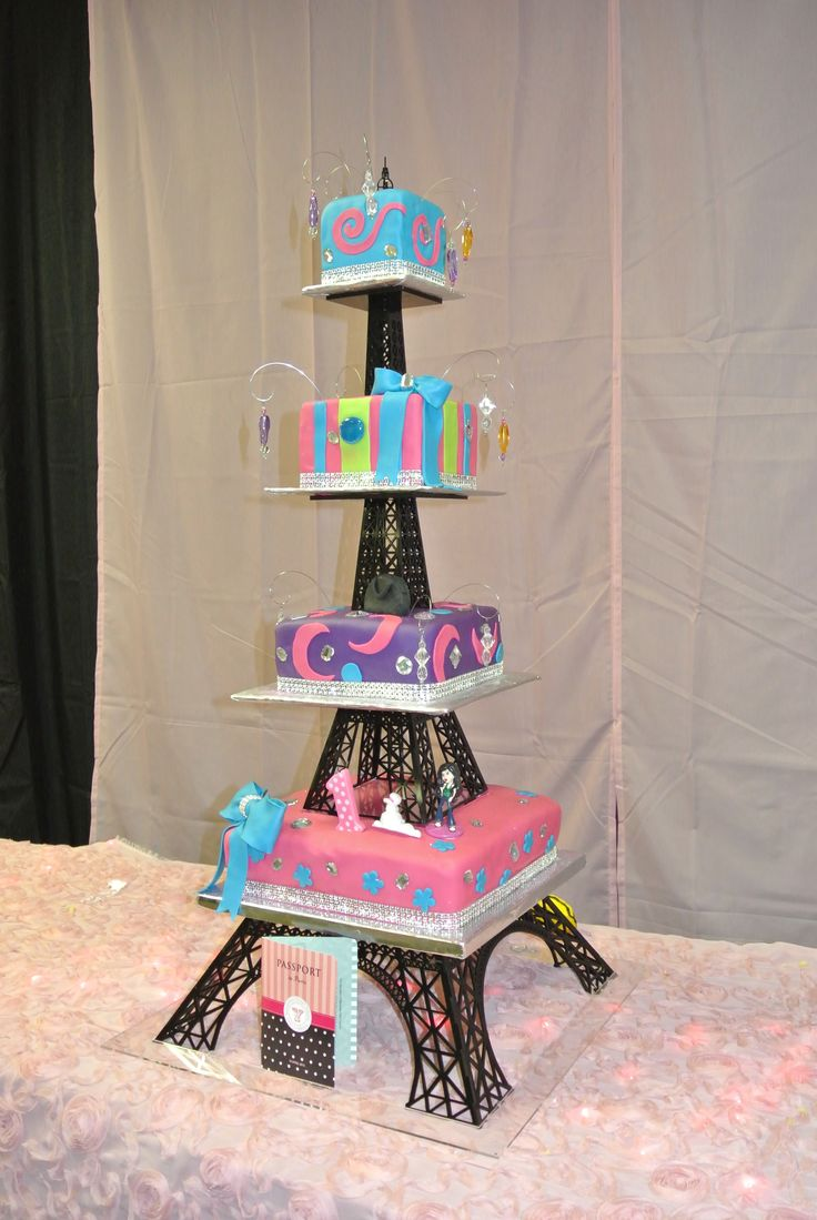 Paris Themed Cake Stand