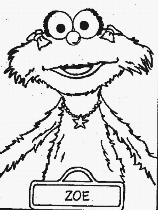 baby sesame street coloring pages - photo#20