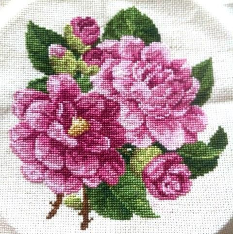 Embroidery: Peony Cross Stitch