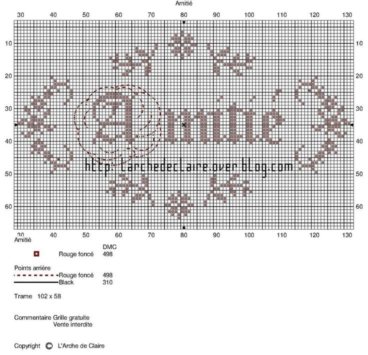 L'amitié Friendship? cross stitch point de croix
