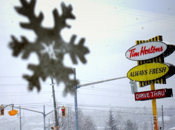 Tim Hortons in the Snow
